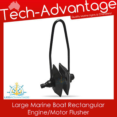 AU7.95 • Buy Marine Grade Boat Outboard Water Engine Motor Muffs Large Rectangular Flusher