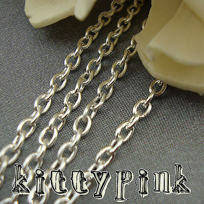2 Metres Silver Plated Trace Chain 3x2mm NICKEL FREE • 0.99£