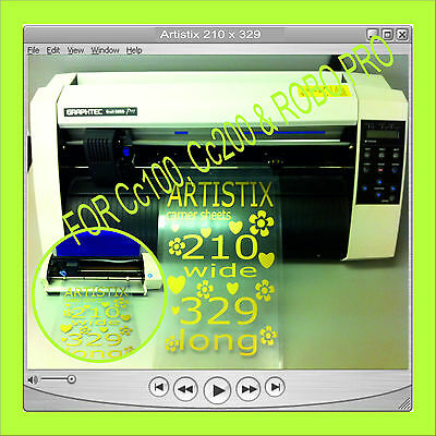 3 X A4 Carrier Sheets Self Adhesive Craft Robo Graphtec • 14.99£