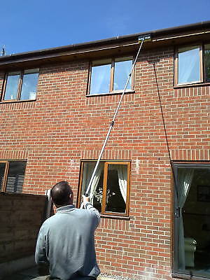 16ft Water Fed Window Cleaning Pole Cleaner Extended Extension Telescopic Brush • 70.99£