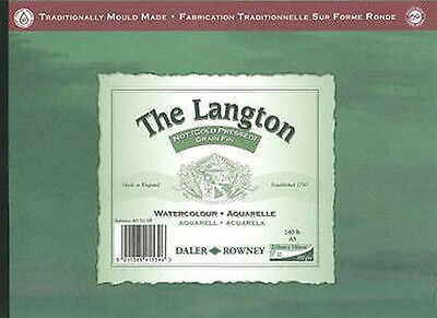Daler Rowney Langton Watercolour Pad - 140lb/300gsm - Cold Pressed / NOT - A3 • 16.89£