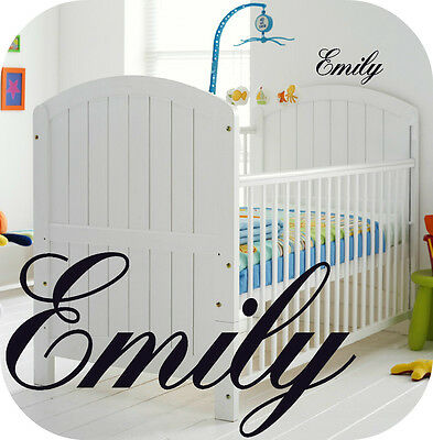 Baby Girl Personalised Nursery Room  Wall Sticker Girls - Kids - Bedroom Or Cot  • 3.99£