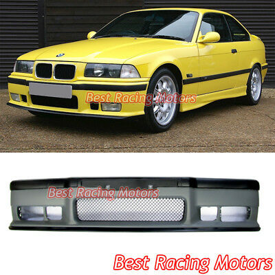 $124.99 • Buy M3 Style Front Bumper Cover + Removable Lip Spoiler Fit 92-99 BMW E36 3-Series