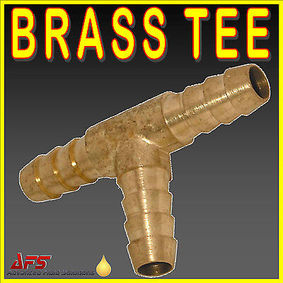 £3.65 • Buy BRASS BARBED T Piece 3 Way Fuel Hose Joiner For Compressed Air Gas Oil LPG Pipe