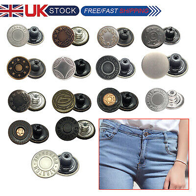 8 X 17mm Studs Buttons Metal With Pins Hammer On Tack Denim Jacket Dress Repair • 2.39£