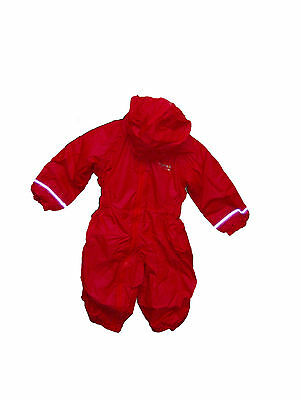 Kid's Regatta Splosh All In One Padded 'Pepper' Red Waterproof Suit. • 19.99£