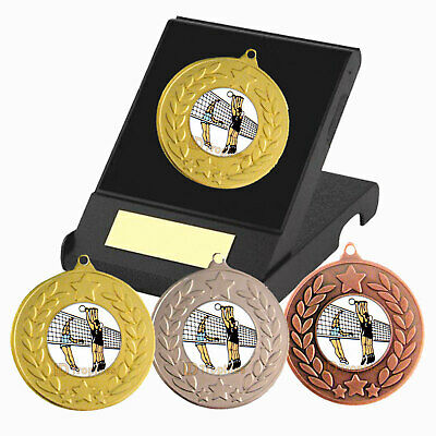 £4.35 • Buy Volleyball Medal In Presentation Box, Free Engraving, Volleyball Trophy Award