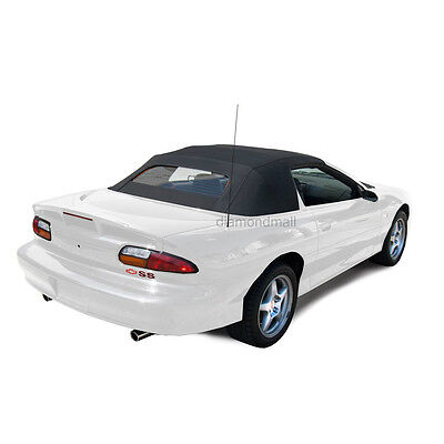 $359 • Buy Chevrolet Camaro 94-02 Convertible Top With Heated Glass Window Black Sailcloth