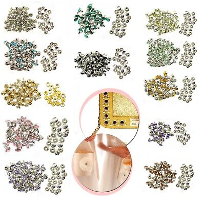 10pcs 8mm Diamante Rivets Leather Craft Studs For DIY Clothing Purses Handbag • 2.25£