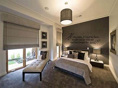 IF I LAY HERE Snow Patrol Wall Decal Words Lettering Quote Bedroom Home 48  • 19.80£