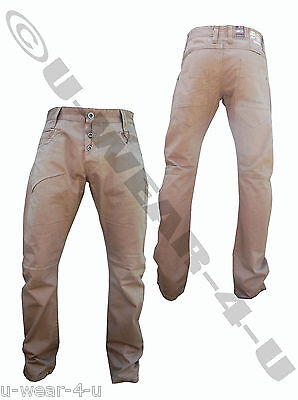 Mens Khaki Crosshatch Straight Leg Chino Trousers. From Sizes 28  To 36  • 18.99£