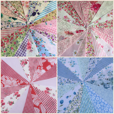 £6 • Buy Fabric Bunting,handmade Vintage,shabby Chic,florals.weddings,fetes,parties