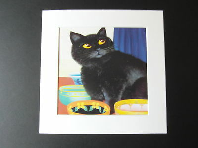 Beryl Cook Miro Waiting For Dinner  Mounted Card 8 X 8 Funny • 5.50£