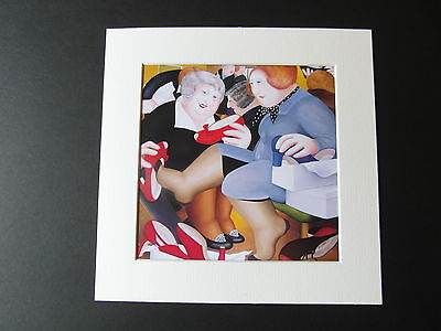 Beryl Cook Shoe Shop  Mounted Card 8 X 8 Funny • 5.50£