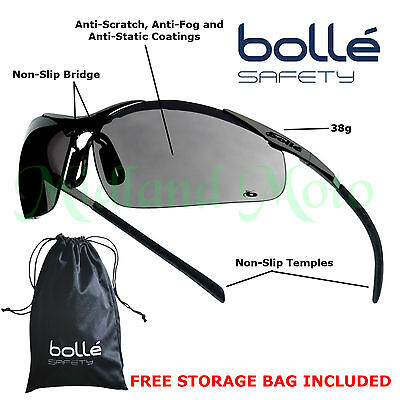 £15.99 • Buy Bolle Contour Metal Frame Smoked Lens Safety Glasses / Sunglasses CONTMPSF EN166