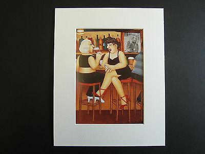 £5.50 • Buy Beryl Cook  A Face At The Window  Mounted Card 10 X 8 Funny