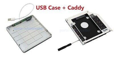 £14.59 • Buy 2nd HDD SSD Caddy For Macbook Pro Unibody +External USB Case For Slot-in DVD ODD