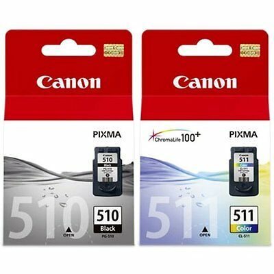 £34.49 • Buy Canon Original Ink Cartridges PG510 CL511 PG-510 CL-511 For IP2700 MP270 MP280