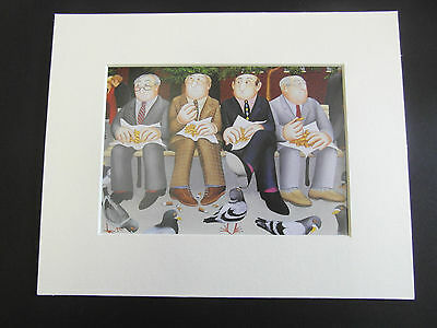 £4.85 • Buy Beryl Cook  Lunch In The Garden  Mounted Card 10 X 8 Funny