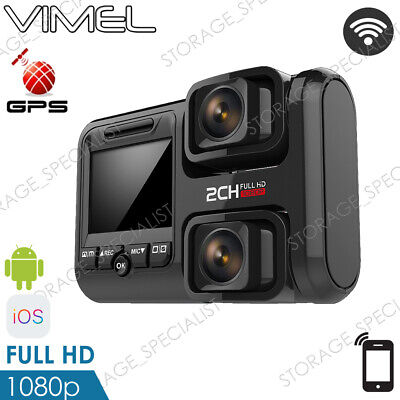 AU169.95 • Buy Dual Dash Camera GPS BEST WIFI Wireless Car Taxi Security Cam Truck Backup Uber