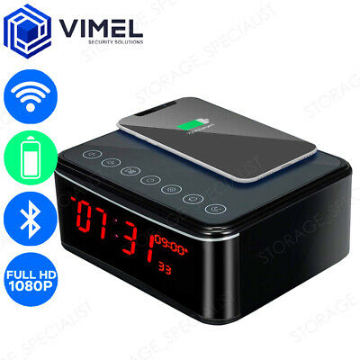 AU249 • Buy Wireless WIFI Charging Station Mobile Phone IP Alarm Clock Security Camera Home