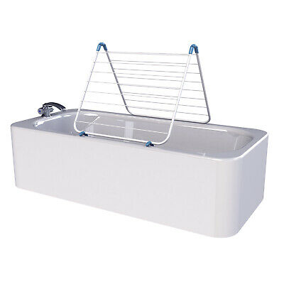 £16.99 • Buy Minky Over Bath Indoor Airer  9.5m Drying Space - White
