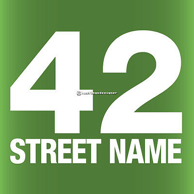 3x WHEELIE BIN STREET NUMBER Custom Waterproof Vinyl Sign Decal Stickers • 4.15£