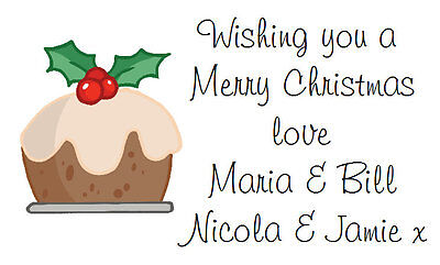 £2.99 • Buy 260 Personalised Labels / Address /Christmas Pudding Stickers