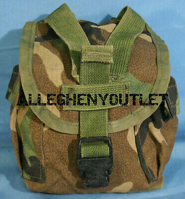 $ CDN14.82 • Buy USGI MOLLE 1 QT Canteen Cover / Utility Pouch Woodland 8465-01-484-0450 VGC