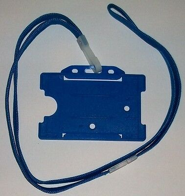 1 X Blue Neck Lanyard And Card Holder (FREE P&P) • 1.50£