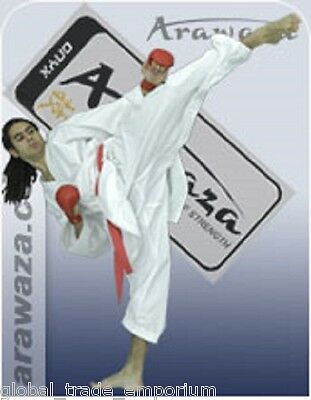 £29.50 • Buy BRAND NEW ARAWAZA ONYX KARATE SUIT GI MARTIAL ARTS 8oz WKF APPROVED ** REDUCED**