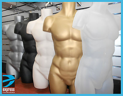 £12.25 • Buy Male Hanging Body Form Full Retail Mannequin SKIN, BLACK, WHITE, GOLD , SILVER