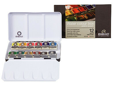 £44.99 • Buy Rembrandt Artists Quality Watercolour 12 Half Pan Metal Box Set With Brush