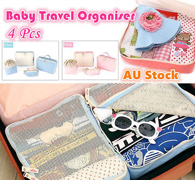 AU12.95 • Buy 4 Baby Travel Bag Trips Organiser Kids Clothes Accessories Case Bags Luggage