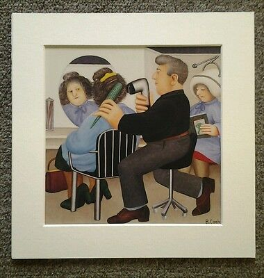 Beryl Cook Salon Philip  Mounted Card 8 X 8 Funny • 5.50£