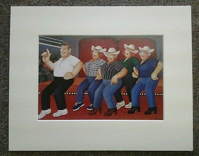 Beryl Cook  Line Dancing  Mounted Card 10 X 8 Funny • 5.50£