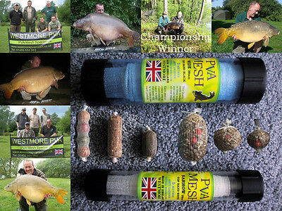 Westmore PVA MESH NARROW 25mm OR WIDE 38mm Refill Make Stocking Boilie Bait Bags • 4.50£