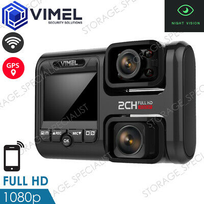AU169.95 • Buy Vimel Professional Dual Dash Camera 4K GPS WIFI Wireless Car Security Uber