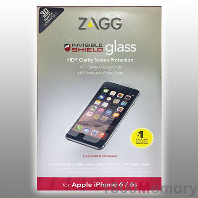 £18.76 • Buy ZAGG InvisibleShield Tempered Glass Screen Protector For Apple IPhone 6 6S 4.7