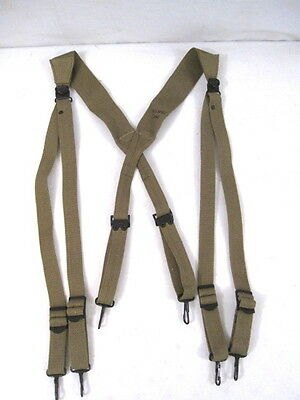 $26.99 • Buy WWII Era US Army M1936 Canvas Combat Suspenders - Reproduction