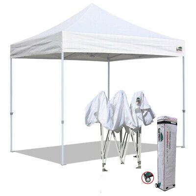 $169.95 • Buy 10x10 Waterproof Commercial EZ Pop Up Canopy Party Trade Show Tent W/Wheeled Bag