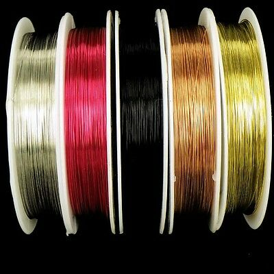 £2.99 • Buy 0.3mm Roll Copper Wire, Craft , Gold ,Silver, Black, Red, Tiara Making  Crafts