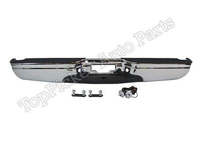 $338.42 • Buy For 97-03 FORD F150 F250 LD STYLESIDE STD/EXT CAB REAR STEP BUMPER ASSY CHROME