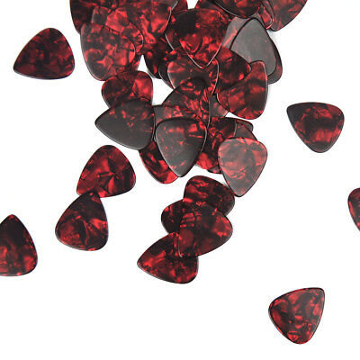 $ CDN10.37 • Buy Lots Of 50pcs Heavy 0.96mm Celluloid Guitar Picks Plectrums Red Pearl New