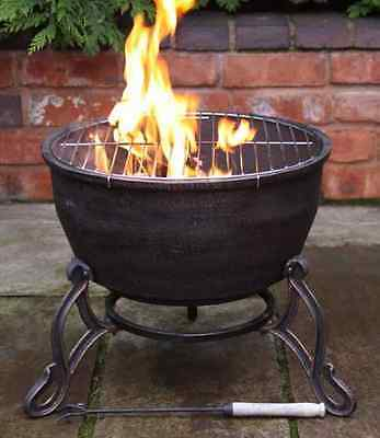 £139.99 • Buy Elidir Cast Iron Fire Bowl & BBQ Grill In One!Patio Heater Fire Pit Camping Cook