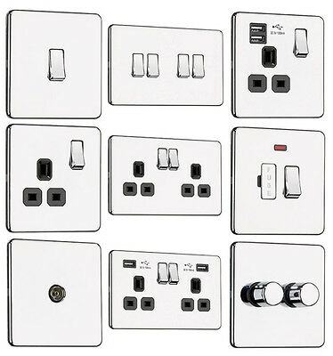 £8.70 • Buy EXCLUSIVE PROMOTION - Screwless Flat Plate Light Switches & Plug Sockets Chrome
