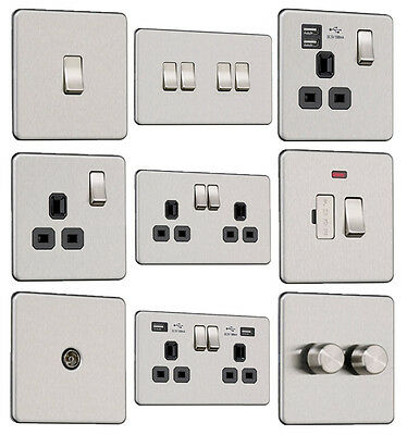 £8.70 • Buy EXCLUSIVE PROMOTION Screwless Flat Plate Light Switches & Plug Sockets Stainless