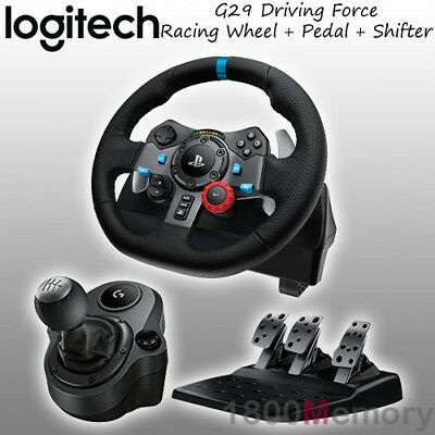 AU699 • Buy Logitech G29 Driving Force Racing Wheel For Sony PS4 PS3 PC With Gear Shifter