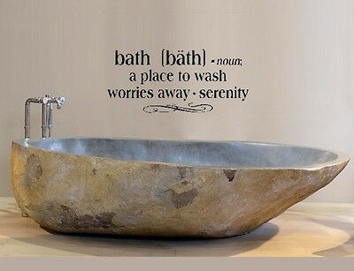 £7.06 • Buy BATH Bathroom Words Decor Wall Decal Lettering Sticky Quote Sticker 24