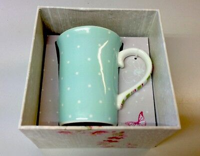 Mug Blue White Fine Bone China Tea Coffee Lucy Cromwell Gift Hallmark • 6£